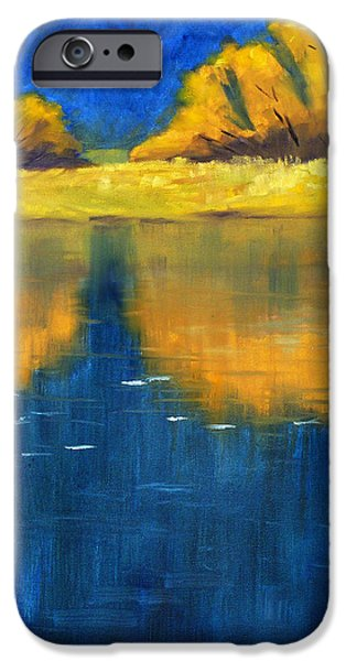 Business Paintings iPhone Cases - Nisqually Reflection iPhone Case by Nancy Merkle