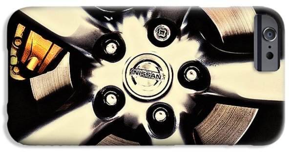 Disc iPhone Cases - Nissan Zx Wheels 2 iPhone Case by Meirion Matthias