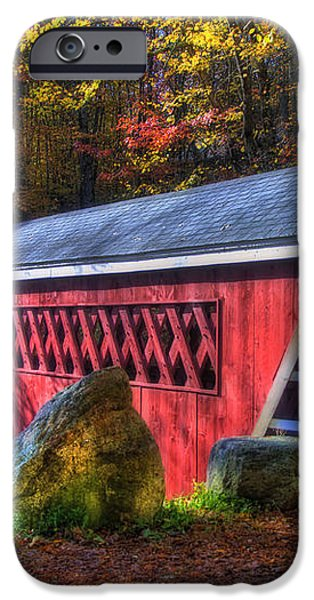 Nissitissit Bridge Brookline NH iPhone Case by Joann Vitali