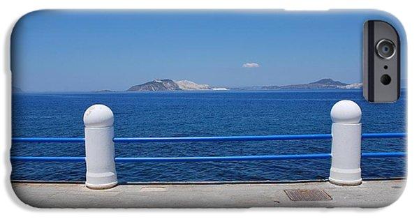 Mandraki iPhone Cases - Nisyros island Greece iPhone Case by David Fowler