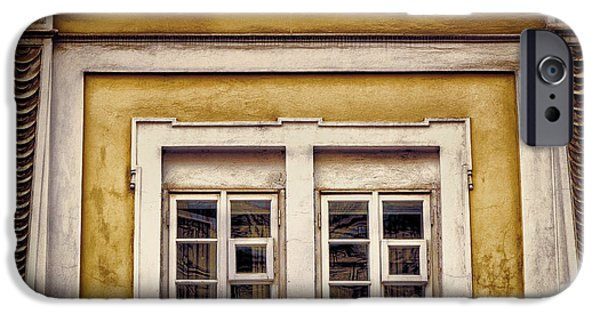 Facade iPhone Cases - Nitty gritty window iPhone Case by Joan Carroll
