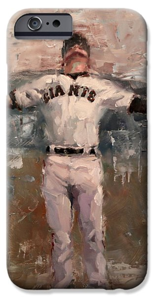 World Series Paintings iPhone Cases - NLCS Rain iPhone Case by Darren Kerr