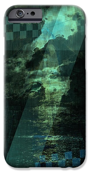Abstract Digital Pyrography iPhone Cases - No 030 iPhone Case by Alexander Ahilov