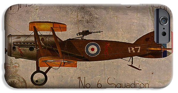 Nose Digital Art iPhone Cases - No. 6 Squadron Bristol Aeroplane Company iPhone Case by Cinema Photography