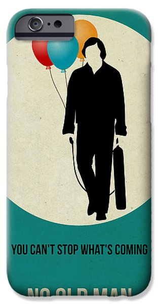 Old Man Digital iPhone Cases - No Country for Old Man Poster 2 iPhone Case by Naxart Studio
