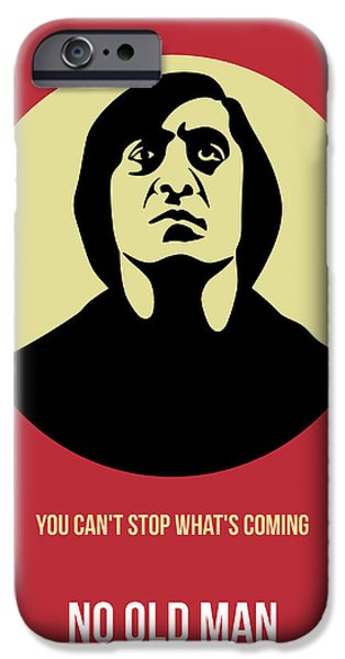 Old Man Digital iPhone Cases - No Country for Old Man Poster 3 iPhone Case by Naxart Studio