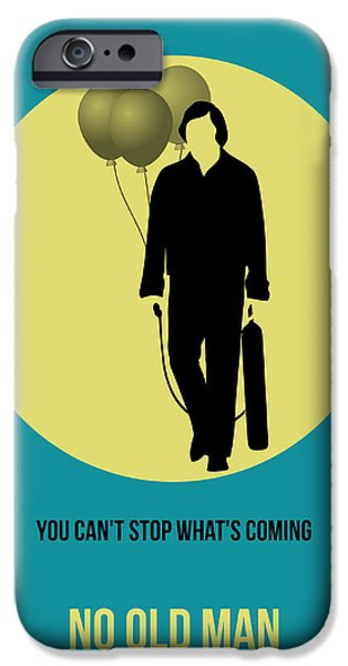 Old Man Digital iPhone Cases - No Country for Old Man Poster 5 iPhone Case by Naxart Studio