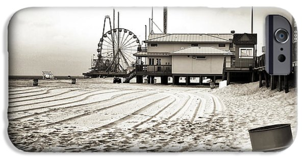 Seaside Heights iPhone Cases - No Crowds iPhone Case by John Rizzuto
