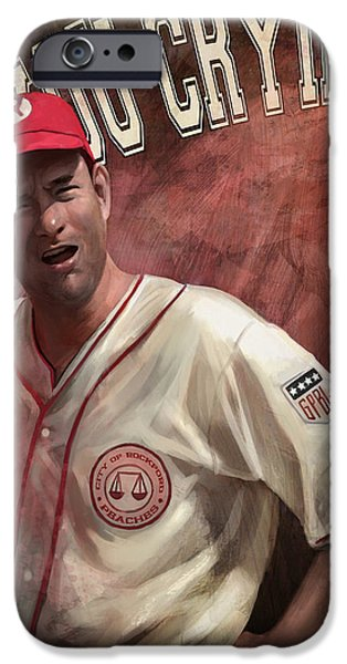 Baseball Art iPhone Cases - No Crying In Baseball iPhone Case by Steve Goad
