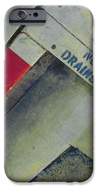 No Dumping - Drains To Ocean No 1 iPhone Case by Ben and Raisa Gertsberg