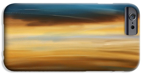 Abstract Seascape iPhone Cases - No Ending iPhone Case by Lourry Legarde