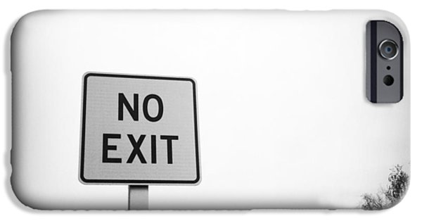 Problems iPhone Cases - No exit iPhone Case by Les Cunliffe