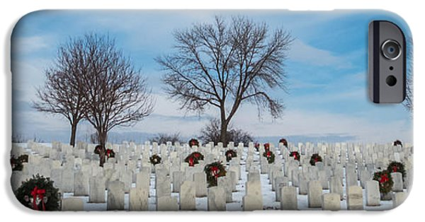Cemetary iPhone Cases - Fallen Heros iPhone Case by Patti Deters