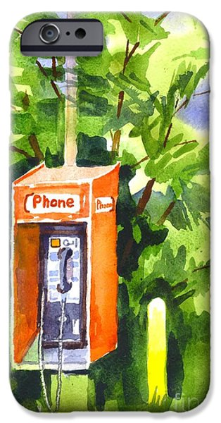 Technology Paintings iPhone Cases - No Longer in Service Watercolor  iPhone Case by Kip DeVore
