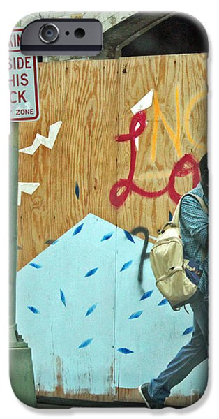 Tennis Shoes iPhone Cases - No Love Today iPhone Case by Joe Jake Pratt