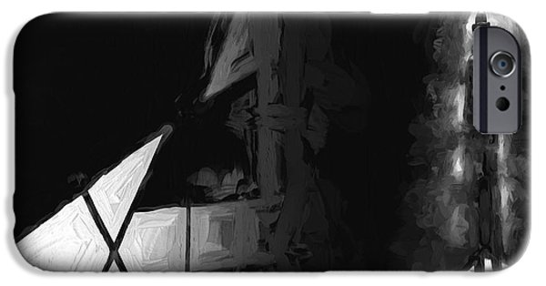 Business Paintings iPhone Cases - No One There iPhone Case by Bob Orsillo