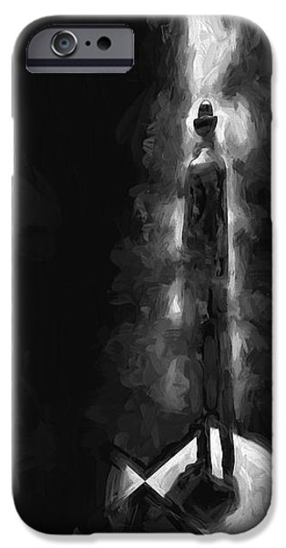 Monotone Paintings iPhone Cases - No One There iPhone Case by Bob Orsillo