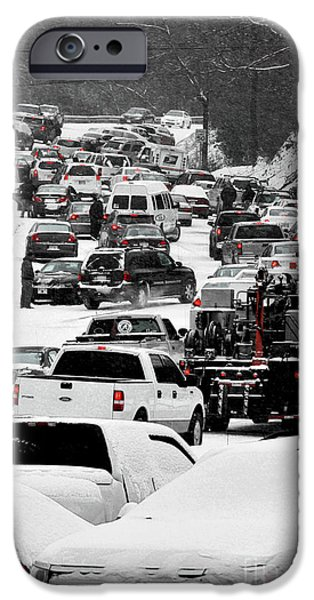 Freeze Warning iPhone Cases - No Place To Park iPhone Case by Ken Johnson
