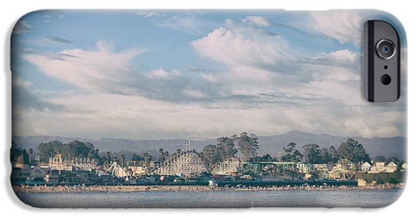 Santa Cruz Ca iPhone Cases - No Summertime Blues iPhone Case by Laurie Search