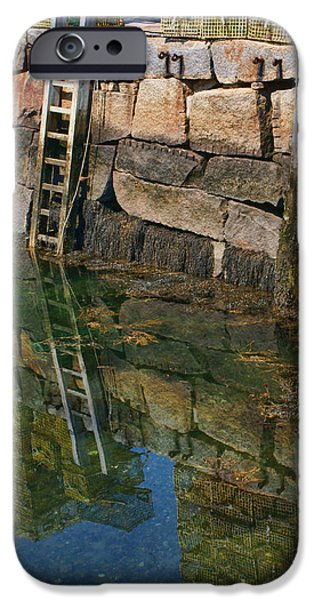 Rockport Ma iPhone Cases - No Swimming iPhone Case by Nikolyn McDonald