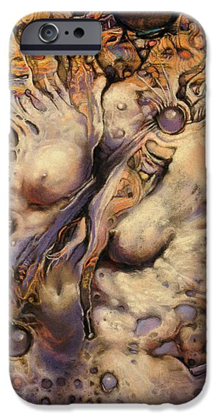 Surrealism Pastels iPhone Cases - No Title 7 iPhone Case by Graszka Paulska