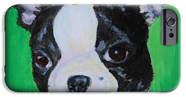 Puppies iPhone Cases - No Trouble iPhone Case by Susan Herber