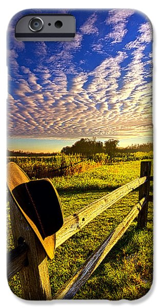 Morning iPhone Cases - No Worries iPhone Case by Phil Koch