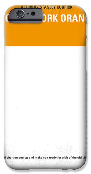 No002 My A Clockwork Orange minimal movie poster iPhone Case by Chungkong Art