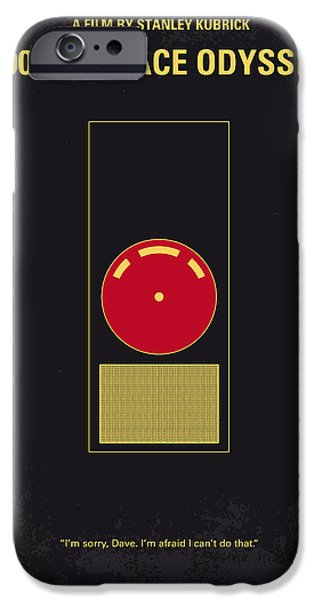 Computers iPhone Cases - No003 My 2001 A space odyssey 2000 minimal movie poster iPhone Case by Chungkong Art