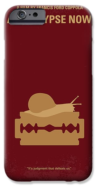 Francis Ford Coppola iPhone Cases - No006 My Apocalypse Now minimal movie poster iPhone Case by Chungkong Art