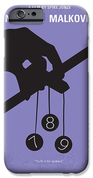 Drama iPhone Cases - No009 My Being John Malkovich minimal movie poster iPhone Case by Chungkong Art