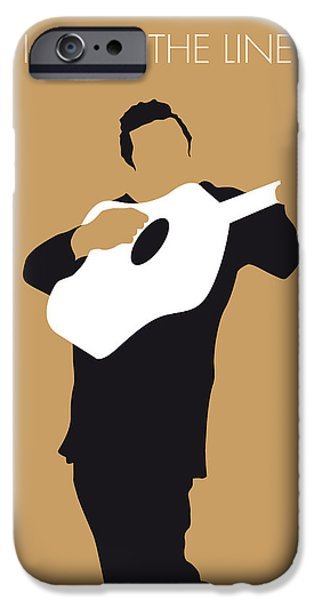 Recently Sold -  - Graphic Design iPhone Cases - No010 MY Johnny Cash Minimal Music poster iPhone Case by Chungkong Art