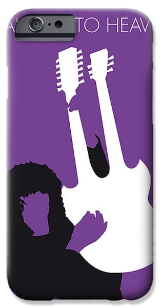 Graphic Design iPhone Cases - No011 MY Led zeppelin Minimal Music poster iPhone Case by Chungkong Art