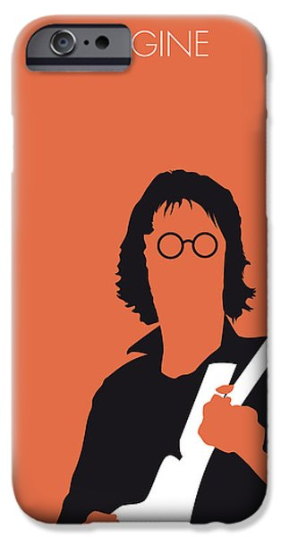 Graphic Design iPhone Cases - No013 MY John lennon Minimal Music poster iPhone Case by Chungkong Art