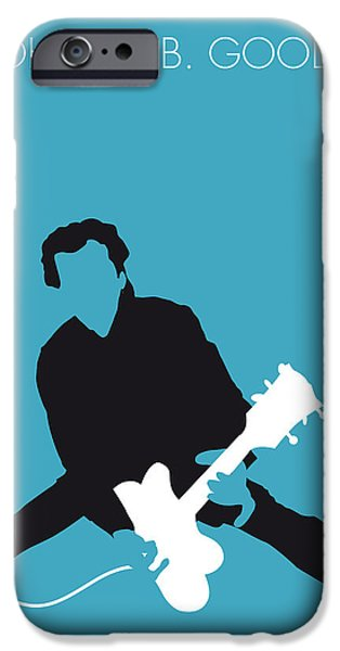 Berry Digital iPhone Cases - No015 MY Chuck Berry Minimal Music poster iPhone Case by Chungkong Art