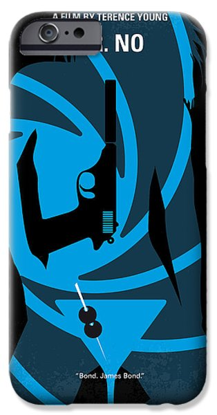Young iPhone Cases - No024 My Dr No James Bond minimal movie poster iPhone Case by Chungkong Art