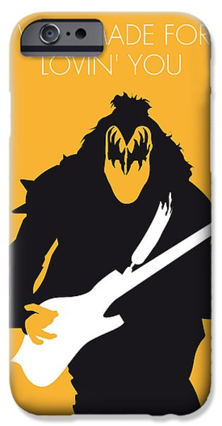 Kiss iPhone Cases - No024 MY KISS Minimal Music poster iPhone Case by Chungkong Art