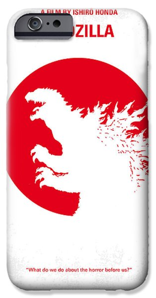 Drama iPhone Cases - No029-2 My Godzilla 1954 minimal movie poster.jpg iPhone Case by Chungkong Art