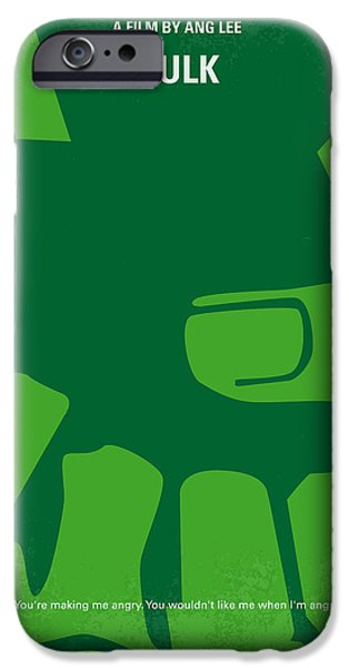 David iPhone Cases - No040 My HULK minimal movie poster iPhone Case by Chungkong Art