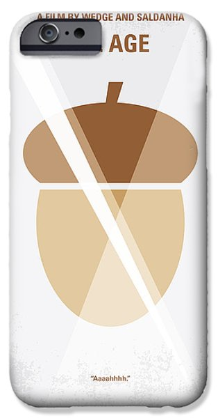 No041 My Ice Age minimal movie poster iPhone Case by Chungkong Art