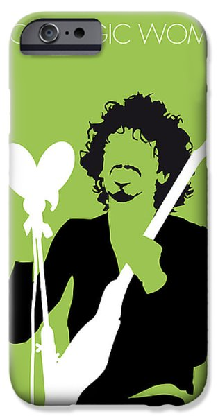 Snowy iPhone Cases - No046 MY SANTANA Minimal Music poster iPhone Case by Chungkong Art