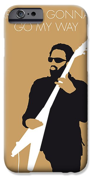 Best Digital Art iPhone Cases - No050 MY LENNY KRAVITZ Minimal Music poster iPhone Case by Chungkong Art