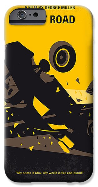 Fury Digital Art iPhone Cases - No051 My Mad Max 4 Fury Road minimal movie poster iPhone Case by Chungkong Art