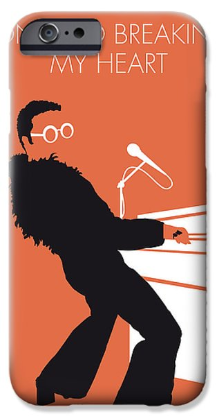 Elton John iPhone Cases - No053 MY ELTON JOHN Minimal Music poster iPhone Case by Chungkong Art