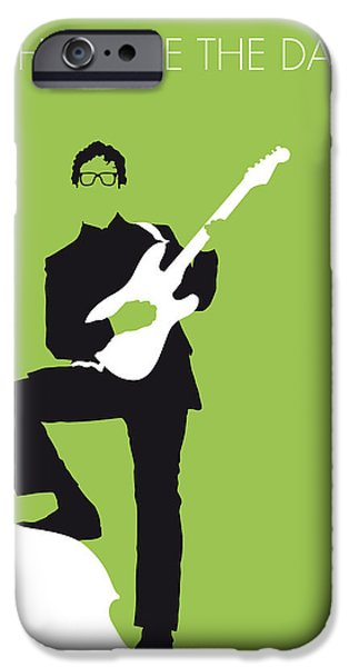 Beatles Digital Art iPhone Cases - No056 MY BUDDY HOLLY Minimal Music poster iPhone Case by Chungkong Art