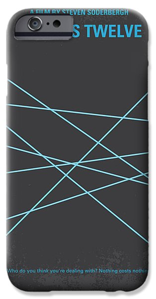 Card Digital Art iPhone Cases - No057 My Oceans 12 minimal movie poster iPhone Case by Chungkong Art