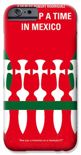 Drama iPhone Cases - No058 My once upon a time in mexico minimal movie poster iPhone Case by Chungkong Art