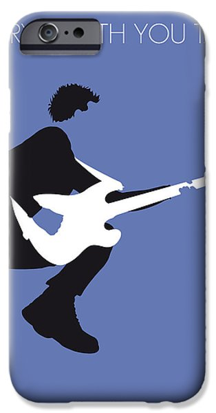 Minimalism iPhone Cases - No058 MY THE POLICE Minimal Music poster iPhone Case by Chungkong Art