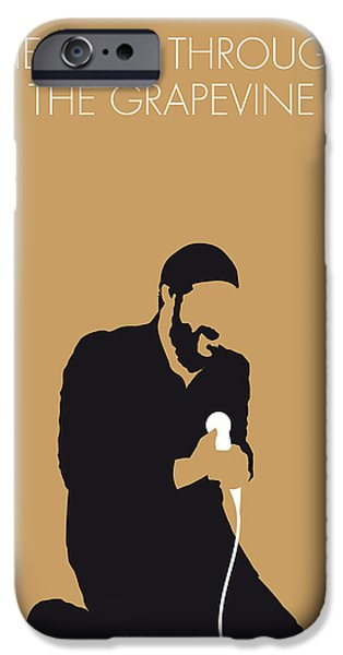 Grapevines iPhone Cases - No060 MY MARVIN GAYE Minimal Music poster iPhone Case by Chungkong Art