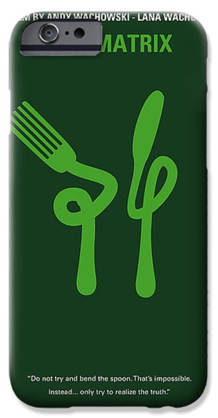 Computers iPhone Cases - No093 My The Matrix minimal movie poster iPhone Case by Chungkong Art